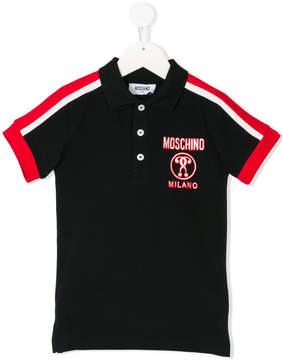 Moschino Kids logo patch polo shirt