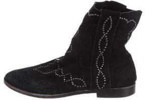 Joie Suede Studded Ankle Boots