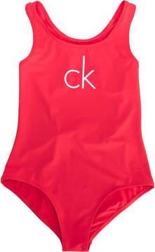 Calvin Klein Kids TEEN printed swimsuit