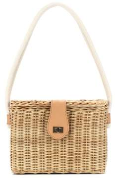 Kayu Mia straw shoulder bag