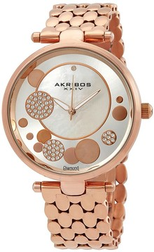 Akribos XXIV Mother of Pearl Dial Ladies Watch