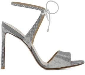 Francesco Russo Women's Grey Leather Heels.