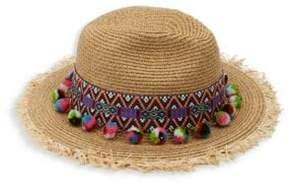 San Diego Hat Company Straw Pom-Pom Fedora
