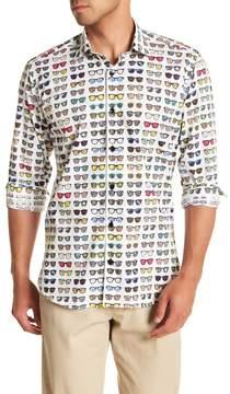 Jared Lang Sunglasses Patterned Woven Shirt