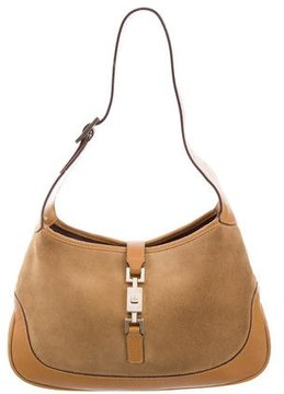 Gucci Suede Jackie Bag - NEUTRALS - STYLE