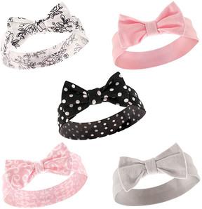 Hudson Baby Pink & Gold Heart Headband Set
