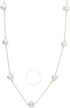 Bella Pearl 10K Gold Chain Floating Keshi Pearl Necklace