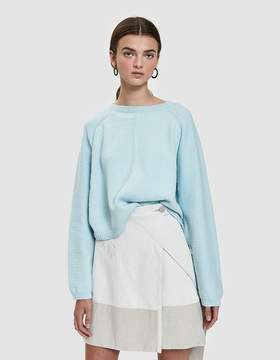 Creatures of Comfort Batwing Pullover Sweater in Light Blue