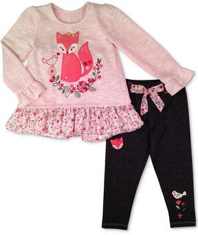 Nannette 2-Pc. Embroidered Top & Leggings Set, Little Girls (4-6X)