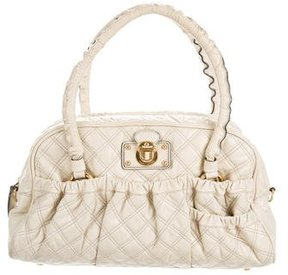Marc Jacobs Quilted Leather Satchel - NEUTRALS - STYLE