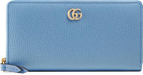Gucci GG Marmont leather zip around wallet - BLUE LEATHER - STYLE