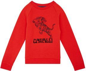 Roberto Cavalli Logo Tiger Print Sweatshirt