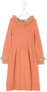 Caramel Amberley knitted dress