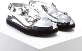 Forever 21 Faux Leather Platform Sandals