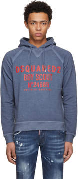 DSQUARED2 Blue Boyscout Logo Classic Raglan Sweatshirt