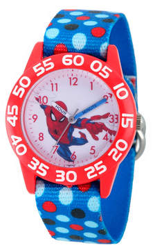 Marvel Spiderman Boys Blue Strap Watch-Wma000177