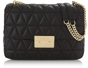 Michael Kors Sloan Extra Large Black Quilted Leather Shoulder Bag - BLACK - STYLE