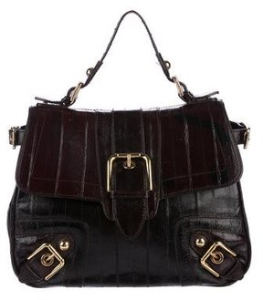 Dolce & Gabbana Eel Buckle Handle Bag - BROWN - STYLE
