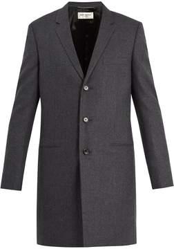 Saint Laurent Notch-lapel wool-twill overcoat