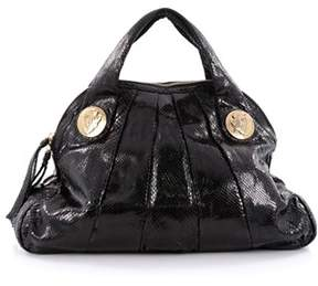 Gucci Pre-owned: Hysteria Dome Satchel Snakeskin Large. - BLACK - STYLE