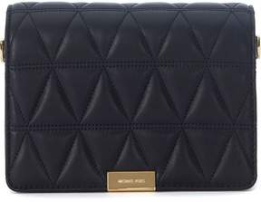 Michael Kors Jade Black Quilted Leather Pochette - NERO - STYLE