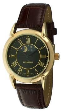 Peugeot Watches Men's Sun and Moon Retro Watch - Brown