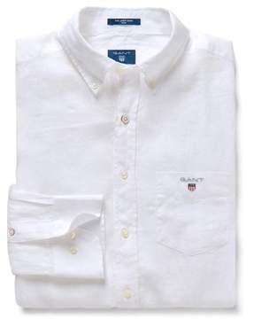 Gant Men's White Linen Shirt.