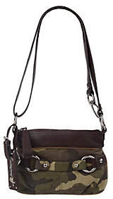 B. Makowsky B.Makowsky Camouflage Leather Zip Top Convertible Crossbody Bag