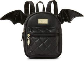 Betsey Johnson Luv Betsey By Black Bat Mini Backpack