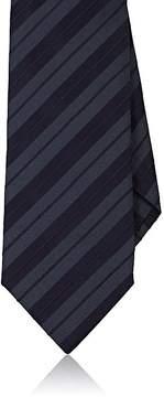 Isaia Men's Striped Silk-Cotton Seven-Fold Necktie