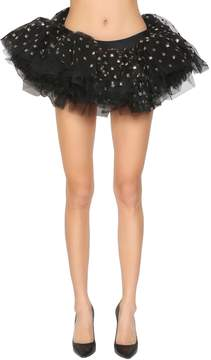 Moschino Studded Tulle Mini Skirt