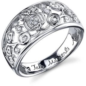 Disney Sterling Silver Fairy Tale Moments Cinderella Ring with Diamond Accents