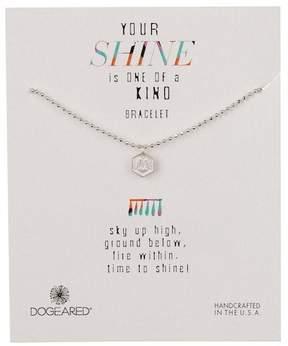 Dogeared Sterling Silver Your Shine Horseshoe Token Bracelet