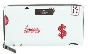 Kate Spade Printed Continental Wallet - BLUE - STYLE