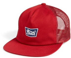 Brixton Men's Stith Mesh Snapback Baseball Cap - Red