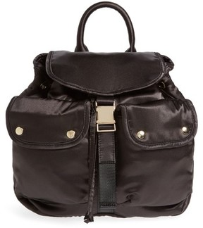 Steve Madden Small Satin Backpack - Black