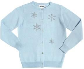 Molo Snowflakes Wool Blend Cardigan