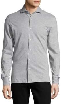 Black & Brown Black Brown Heathered Button-Down Cotton Shirt