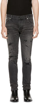Balmain Black Vintage Six-Pocket Jeans