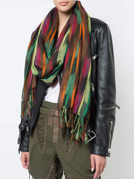 Saint Laurent Abstract pattern scarf