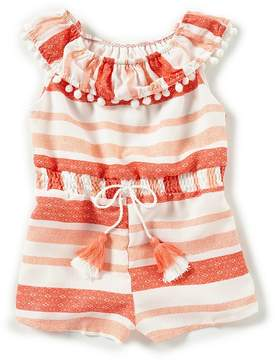 Rare Editions Baby Girls 12-24 Months Striped Popover Romper