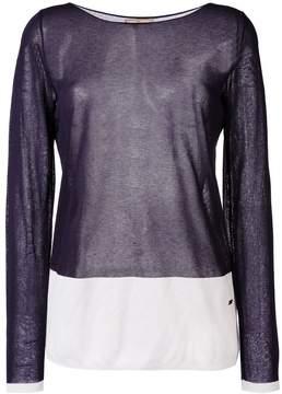 Fay colour block jumper