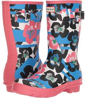 Hunter Floral Stripe Short Rain Boot Women's Rain Boots