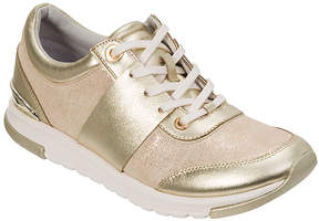 Foot Petals Gold Blair Leather Sneaker - Women