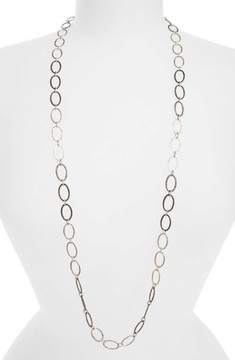 Armenta Women's Old World Midnight Oval Link Necklace