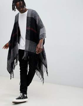 Asos Cape In Multi Check