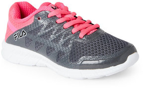 Fila Toddler/Kids Girls) Grey & Pink Finity Sneakers