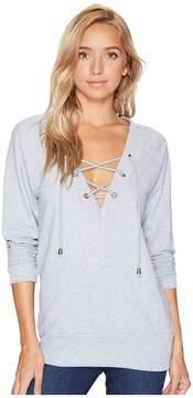 Bishop + Young Teri Lace-Up Sweatshirt Women's Sweatshirt