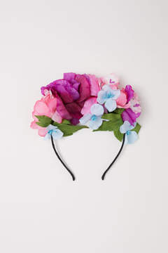 H&M Hairband with Flowers - Purple
