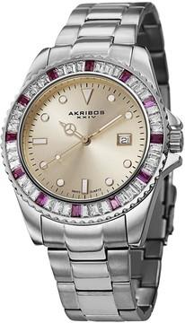 Akribos XXIV Champagne Dial Stainless Steel Unisex Watch AK702RD